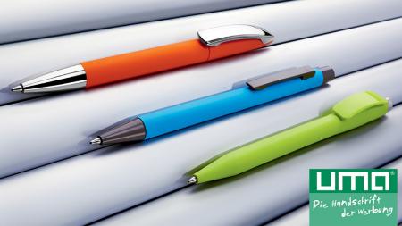 gumowane długopisy UMA | UMA gum pens
